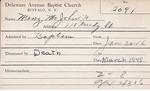 Menz, Mr. John H by Delaware Avenue Baptist Church
