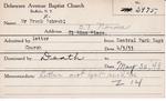 Schwabl, Mr. Frank by Delaware Avenue Baptist Church