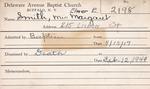 Smith, Ms. Margaret by Delaware Avenue Baptist Church