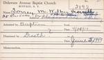 Torrey, Mr. Wilbur by Delaware Avenue Baptist Church