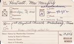 Hartnett, Mrs. Margery