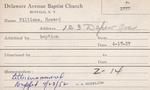 Williams, Mr. Howard by Delaware Avenue Baptist Church
