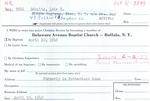 Schultz, Ms. Lois by Delaware Avenue Baptist Church