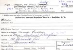 Douglas, Ms. Sandy by Delaware Avenue Baptist Church