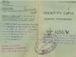 Identity card no. 1036/W issued to Zofia Drzewieniecka