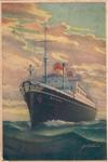 Post card sent by Maria Wiśniewska to her daughter Zofia Krzyżanowska (nee Zofia Wiśniewska; later: Zofia Drzewieniecki) from the Polish ship Batory