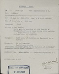 Movement Order for Walter Drzewieniecki to Polish Corps HQ by British Army's Middle East Staff College