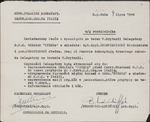 "Document Information that Captain Włodzimierz Drzewieniecki and 1st Lieutenant Stefan Soboniewski are Delegates of the ""SYRENA"" Branch of the Polish Combatants' Association"