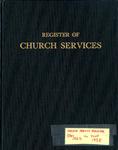 Parish Register; 1952-1958 by Epiphany Episcopal Church of Niagara Falls