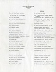 Guest List; Centennial Celebration; 1954