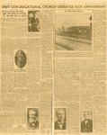 History; Newspaper Article; Niagara Gazette; 75th Anniversary; Oct 27, 1930 by First Congregational United Church of Christ