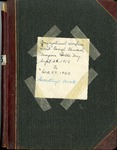 Secretary Book; 1912-1920
