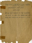 Various Membership Lists; 1936 by First Congregational United Church of Christ