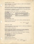 Session Minutes; 1932-1945