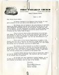 Correspondence; Capital Improvement Campaign; 1955-03-05