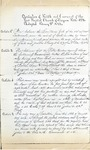 Articles of Faith & Covenant; Adopted Feb. 9, 1842