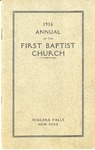 Church Directory; 1916 by First Baptist Church of Niagara Falls