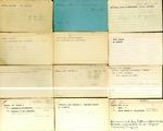 Membership; Index Card Box 2; 1910-1980