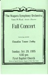 Assorted Music Programs; 1995-1996 by First Baptist Church of Niagara Falls