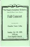 Assorted Music Programs; 1995-1996 by First Baptist Church of Niagara Falls