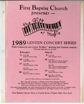 Music-Concert Scrapbooks; 1989-1990 by First Baptist Church of Niagara Falls