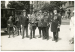 Dr. Francis Eustachius Fronczak with Polish officers and others by The Francis Fronczak Collection