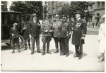Dr. Francis Eustachius Fronczak with Polish officers and others by The Francis Fronczak Collection
