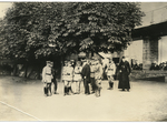 Dr. Francis Eustachius Fronczak with military men by The Francis Fronczak Collection