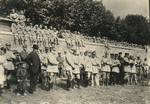 Officers and others at a military review by The Francis Fronczak Collection