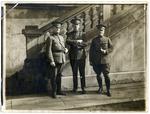 Dr. Francis Eustachius Fronczak and two officers by The Francis Fronczak Collection
