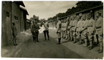 Instruction in front of barracks