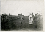 Swearing an oath to the flag