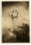 Apparition holding her head with arm extended by The Francis Fronczak Collection