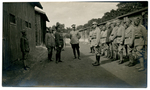 Pilsudski and Fronczak with a group of people.