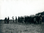 Presentation of the Flag to the Polish Army by the French President Pichon and General Gouraud.