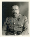 Portrait of Jozef Haller, with dedication.