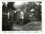 Signing document and blessing the church stone on April 18, 1918