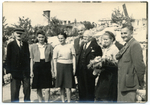 Men and women with flowers in Jaslo