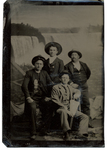 A group of young men at Niagara Falls. by The Francis Fronczak Collection