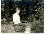 Eugenia Lucille Fronczak sitting with a book. by The Francis Fronczak Collection