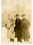 Three men in winter coats and hats by The Francis Fronczak Collection