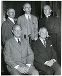 A group of 5 men, including one priest by The Francis Fronczak Collection