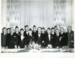 Group photo of men at a banquet. by The Francis Fronczak Collection