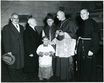 Francis Eustachius Fronczak with the bishop, two priests, a man and an altar boy. by The Francis Fronczak Collection