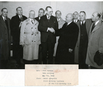 Group photo with Francis Eustachius Fronczak in light coat on the left. by The Francis Fronczak Collection