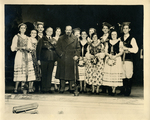 Francis Eustachius Fronczak with Jozef Haller with a Polish dance group. by The Francis Fronczak Collection
