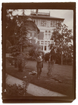 Man in front of the Paderewski residence at Riond-Bosson, Switzerland by The Francis Fronczak Collection