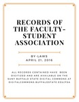 By-Laws; Faculty-Student Association; March 21, 2016