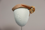 Tan Hat With Feather by Buffalo State Fashion And Textile Technology Department