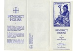 Pamphlet for Benedict House by Benedict House